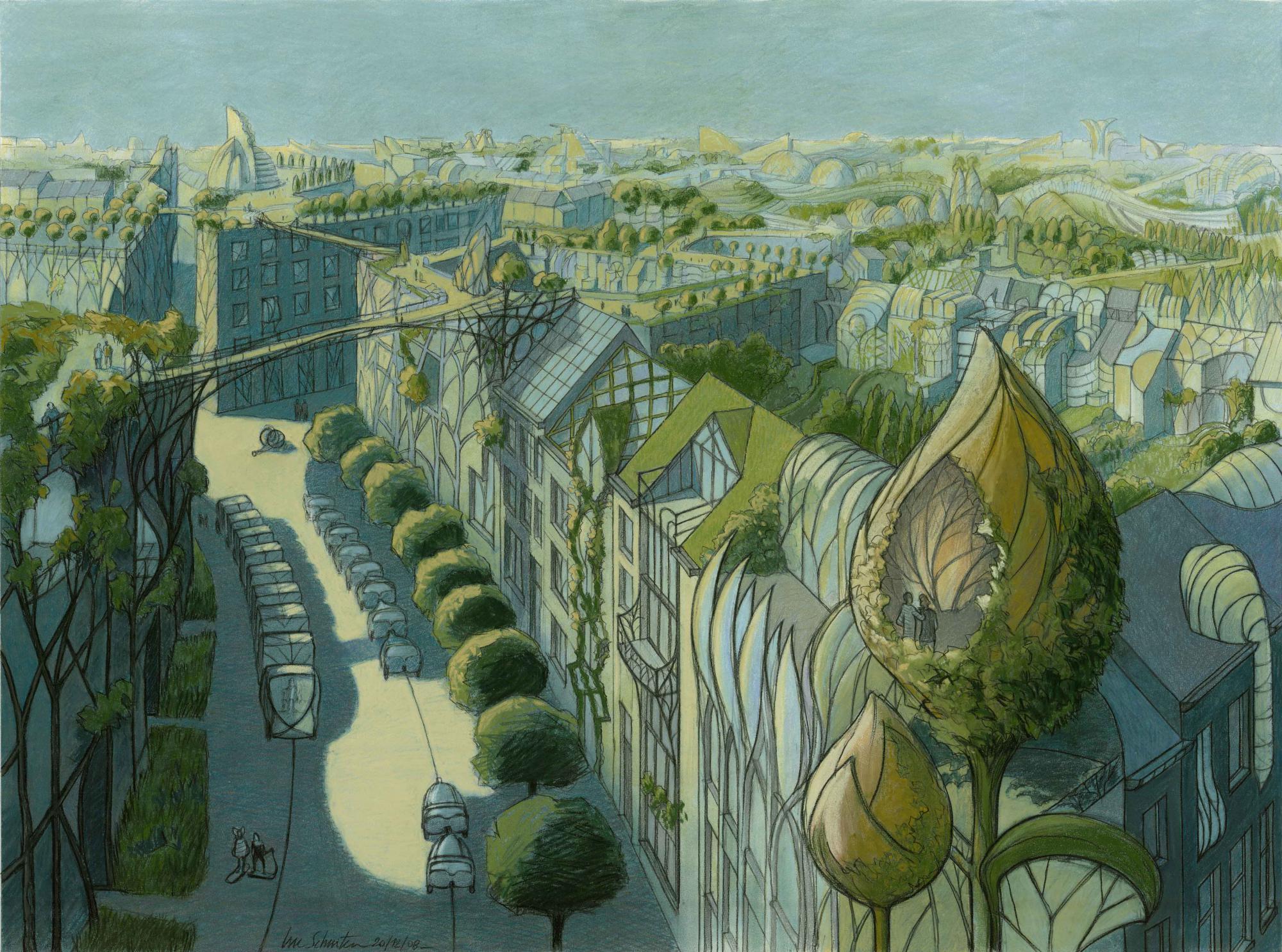Luc schuiten expositions for La ville nature