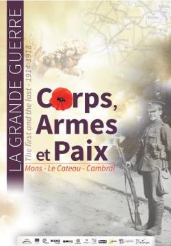 """Affiche """"La Grande Guerre : Corps, armes et paix"""""""